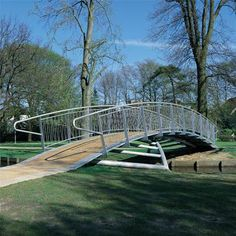 STREETLIFE Butterfly Bridge (12-24 m). Typical to this bicycle bridge is the elegant butterfly supporting structure. There is a wide range of fencing and decking materials available for this bridge. #PublicSpace #Bridge #Butterfly