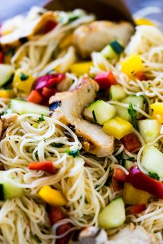 Somen Noodle Salad with grilled chicken is a light and crisp meal that is perfect for potlucks or a casual one-bowl weeknight dinner. Somen Noodle Recipe, Noodle Recipes, Indian Tacos, Marinated Grilled Chicken, Whole Wheat Pizza, Easy Pasta Salad, Asian Recipes, Ethnic Recipes, Noodle Salad