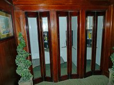 Vintage Indoor Wood Phone Booths