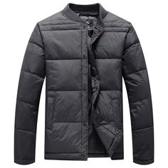 Winter Thick Warm Down Jacket Solid Color Single-breasted Father Men Overcoat