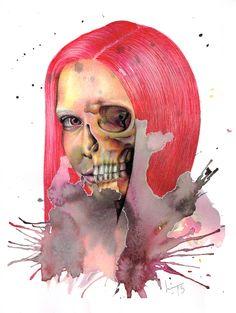 Skulls No 9 by LinnFeyling.deviantart.com on @deviantART