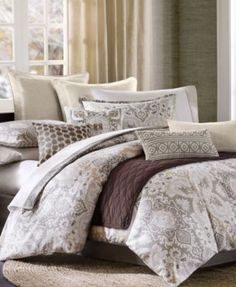 New Bedding, Echo Bedding, Odyssey Comforter and Duvet Sets - Bedding Collections - Bed & Bath - Macy's Echo Bedding, Queen Comforter Sets, Duvet Sets, Duvet Cover Sets, Red Comforter, Tahari Bedding, Bedding Collections, Luxury Bedding, Bedroom Decor