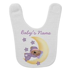 This is a great custom baby bib that makes the perfect gift for a baby, newborn, mom to be, twins, baby shower, and more.