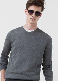 Jersey lana lunares   MANGO MAN