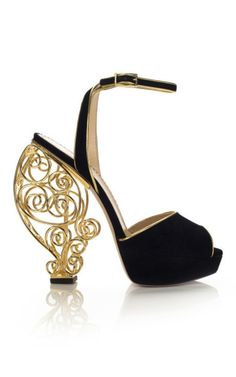 shoes / Charlotte Olympia  such a weird heelI wonder how it would feel to walk in them. |2013 Fashion High Heels|