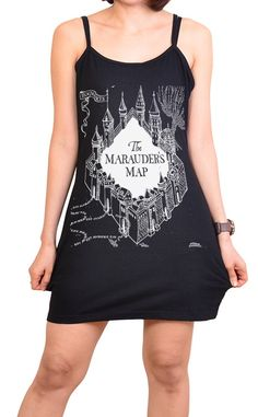Marauder's Map Tank Dress ($17) | Seriously Cute Harry Potter Gear That You Can Rock When It's Hot Outside | POPSUGAR Tech