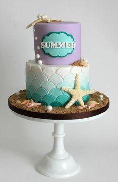 Little Mermaid Theme inspired cake