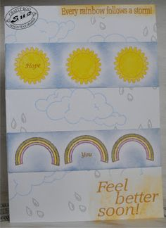 April 2016 Monthly Make from Crafty Roo Designs April Showers, Feel Better, How Are You Feeling, Rainbow, Crafty, Feelings, How To Make, Design, Rain Bow