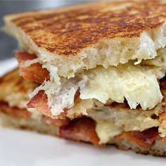 Ultimate Grilled Cheese Sandwichby ezrapoundcake, recipe by thebarefootcontessa: Crisp and buttery on the outside, gooey on the inside. #Grilled_Cheese #ezrapoundcake #thebarefootcontessa