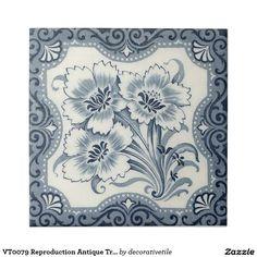 VT0079 Reproduction Antique Transferware Ceramic Tile