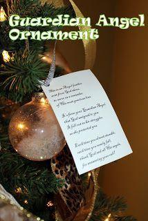 DIY Guardian Angel Ornament - directions and free pattern - Harris Sisters GirlTalk