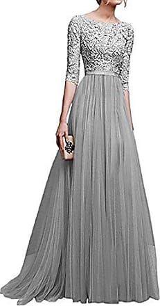 Damen Spitzen Abendkleid Partykleid Ballkleider Hochzeit Sommer Maxikleider DE