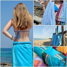 Kikoy Towels by Blue Summer. Kikoys are traditionally and ethically made in Kenya from natural, soft cotton. Highly absorbent, but light and easy to pack, Kikoy Towel is ideal for a family vacation or seaside day out. Beach Accessories, Summer Travel, Kenya, Seaside, Towels, Thailand, Vacation, Natural, Easy