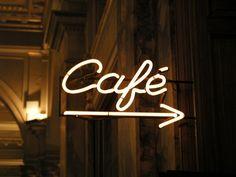 (55) january   Tumblr Lighting Logo, Neon Lighting, Cafe Central, Rustic Coffee Shop, Cafe Signage, Shop Facade, Neon Words, Neon Logo, Bar Logo