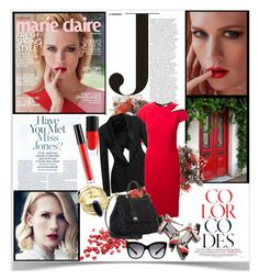"""""""Into Red"""" by sweetdee55 ❤ liked on Polyvore"""