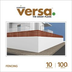 Versa Plank offers low #maintenance and #ecofriendly wood plastic composite source for  #fencing #wpc #plankwood 10 times better | 100 times smarter