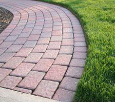 chicken gardenpaver walkwaybrick patternslandscape designfront