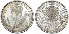 World Coins - Sweden. King Oscar II (1872-1907). Silver Jubilee. 2 Kronor 1897 EB. UNC.