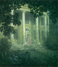 The Athenaeum - A Summer's Night (Willard Leroy Metcalf - ) 1902 Nocturne, Rainy Day Pictures, Plein Air Easel, Art Nouveau, Old Lyme, American Impressionism, Great Paintings, Vincent Van Gogh, Summer Nights