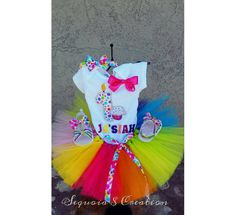 Check out this item in my Etsy shop https://www.etsy.com/listing/398905351/1st-birthday-circusclown-theme-tutu-set