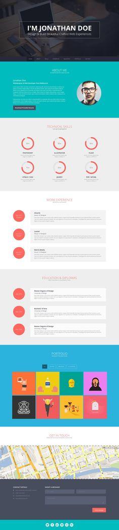 Online CV & Resume template 2014
