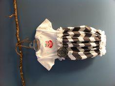 Love this! Infant onesie dress - chevron and owl