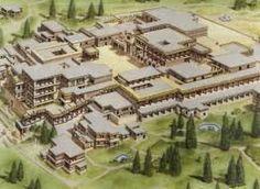 Ricostruzione digitale del Palazzo di Cnosso.