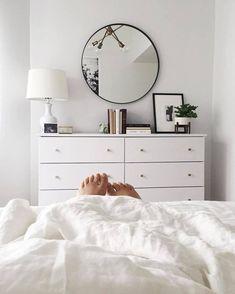 Love the white dresser simplicity