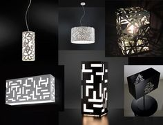 Lamp Design, Lighting Design, Laser Cut Lamps, Custom Metal Art, Sky Lanterns, Laser Art, Light Games, Light Fittings, Led