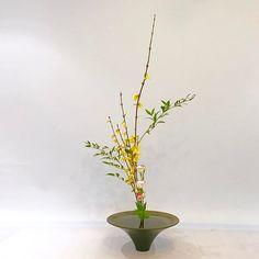 #池坊 #いけばな教室 #ロンドン #生花 #三種生#ikebana #ikebanaclass #london #japaneseflowerarrangement #shoka #sanshuike