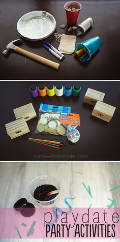 These playdate activity ideas are so stinkin' cute!
