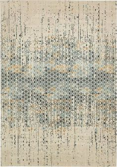 Rug Modern Abstract Beige x 2 Monaco Collection Area Rug - Rugs for Living Room - Rugs for Dining Room & Bedroom - Floor Carpet Beige Carpet, Modern Carpet, Modern Rugs, Dark Carpet, Carpet Decor, Rugs On Carpet, Carpets, Carpet Ideas, Monaco