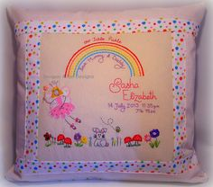 Custom made embroidered applique design by ImogenAllenDesigns