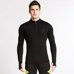 Compression Long Sleeve Running Shirt Men Bodybuilding Training Tights Sports Compression Undershirt Fitness Gym