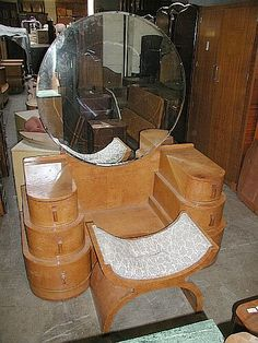 Deco-Dence Art Deco - Unrestored - Vanities 2 - Art Deco club chairs, bars, dining, bedroom, desks