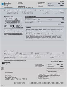 Utility Statement Maine Gas In 2019 Fake Documents Pinterest