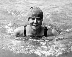 American swimmer Gertrude Ederle had already won a gold medal and two bronze medals at the 1924 Olympics. On August 6th, 1926 she swam from Cap Gris-Nez, France to Kingsdown, England in 14 hours and 30 minutes.