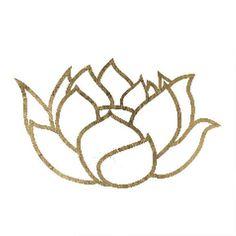 Lotus Flower: Metallic Temporary Tattoos at http://fashiontats.com