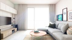 ARCHILAB architekti - interiér bytu, Slnečnice, Bratislava Bratislava, Architekti, Curtains, Living Room, Home Decor, Projects, Blinds, Decoration Home, Room Decor