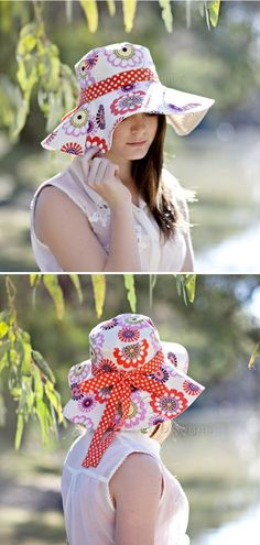 Reversible Wide Brimmed Sun Hat  Are you wondering how to protect yourself from the Sun in style? Angel Lea Designs has found the answer! A classic summer hat with a wide brim will make you feel and look so special this summer.  #sewingpattern #sewingprojects #sewingcrafts #sewingtutorials #sewingsunhat #summersewing Sewing Tutorials, Sewing Crafts, Sewing Projects, Hat Patterns To Sew, Sewing Patterns, Wide Brim Sun Hat, Summer Hats, Sun Hats, Free Pattern