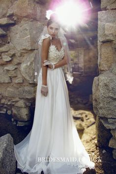 40bbabaff4 Modern Off-the-shoulder Sweetheart Lace and Chiffon A-line Wedding Dress