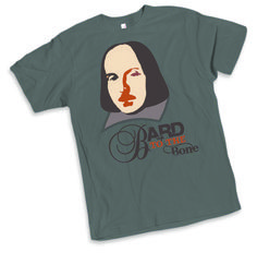 """The Bard's the (latest) thing: """"Of the many Shakespearean shirts out there, this tee's the thing with its simple, edgy design by Australian actor and The Shakespeare Shoppe owner Sally McLean. While the love of Shakespeare is more than skin-deep, it does feel good on the skin with comfy cotton."""" - Rene Guzman, San Antonio Express-News   Thank you Rene! So glad you liked it! :)"""