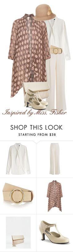 """""""Inspired by Miss. Fisher"""" by dsutlovic ❤ liked on Polyvore featuring Theory, DKNY, Frame Denim, GRIZAS, ASOS, Funtasma and Betmar"""