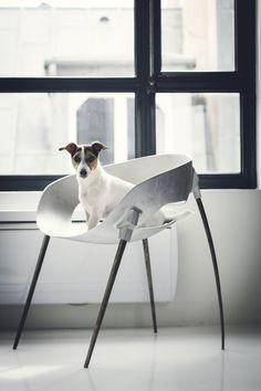 Sputnik chair / steel chair inspired by the Sputnik satellite