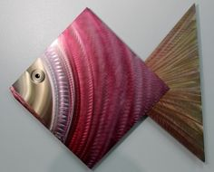 Brand new @Etsy - Huge Coral Fish Abstract Metal Wall #Art, let's get tropical!