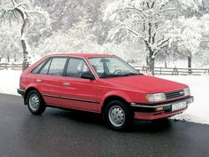 My first car, a Mazda 323 hatchback. Didn't even make it thru its first inspection. Mazda Familia, Mazda Cars, First Car, Japanese Cars, Car Photos, Maserati, Fiat, Peugeot, Cars And Motorcycles