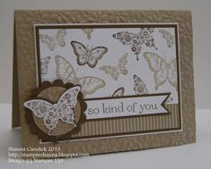 Nature's Butterfly Duo by stampinshauna - Cards and Paper Crafts at Splitcoaststampers