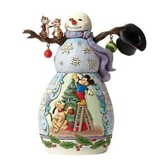 Disney Traditions Mickey Mouse and Friends Snowman Figurine