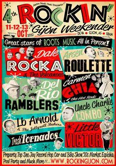 4º Rockin' Gijón. 11, 12 y 13 de Octubre. 2013. Deva. Gijón, AS. Spain.