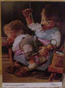 Postkarte Mecki - die bekam ich immer von meiner Oma geschickt